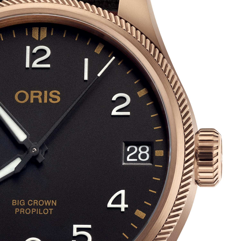 Oris Big Crown ProPilot Big Date Bronze