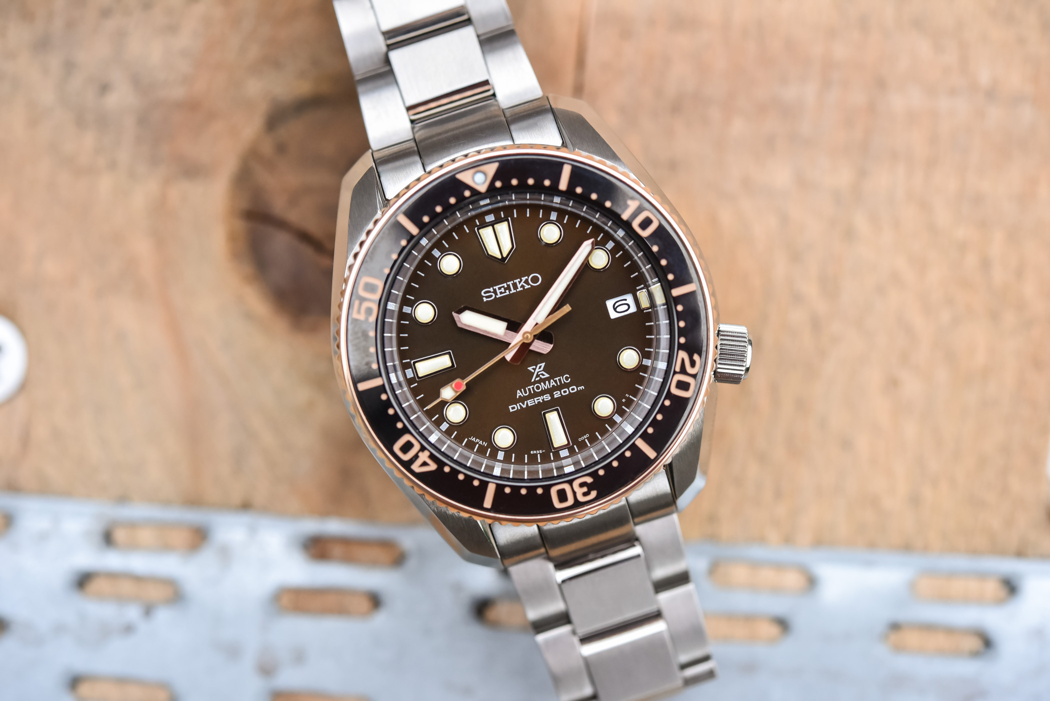 Seiko Prospex Diver 1968 Two-Tone Brown Dial SPB240J1